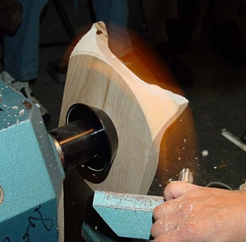 Cutting air with the gouge