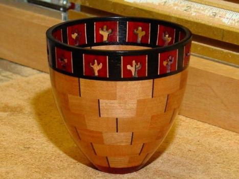 Example 6: Hand-pierced cactus design.