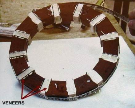 A ring with straight segments plus veneer segments.