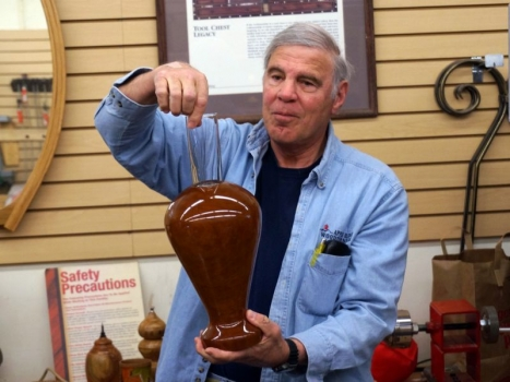 Tom B. with glass lined vase in Cherry