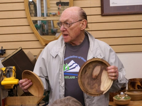 Al G. with bowls in Black Acacia