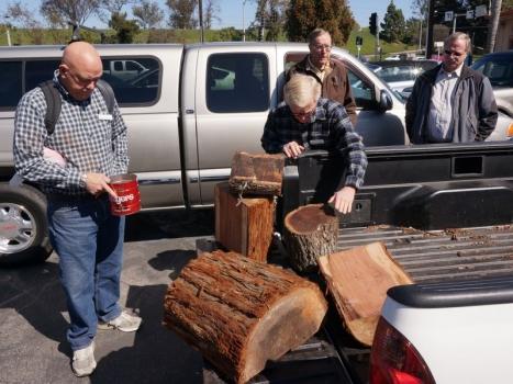 Wood raffle at end of meeting - Black Acacia and Redwood