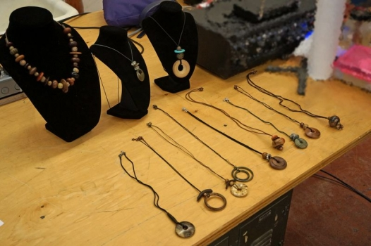 Sally Ault's turned jewelry art