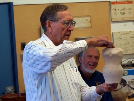 Jim R. continues to explore the female form - multi-axis turning, some carving