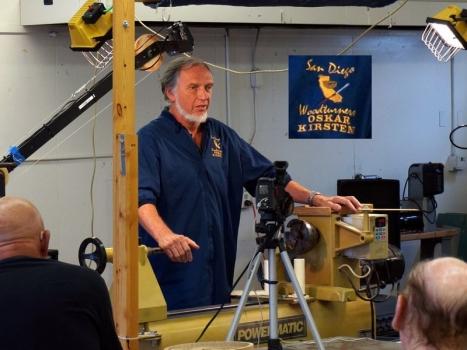 Oskar Kirsten from San Diego begins demo of coring methods
