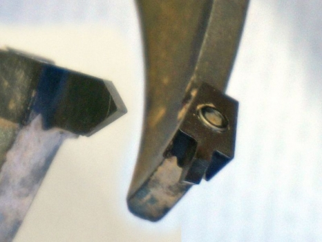 Two views of the cutter tip - 3/8