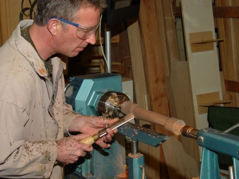 Cutting air with roughing gouge