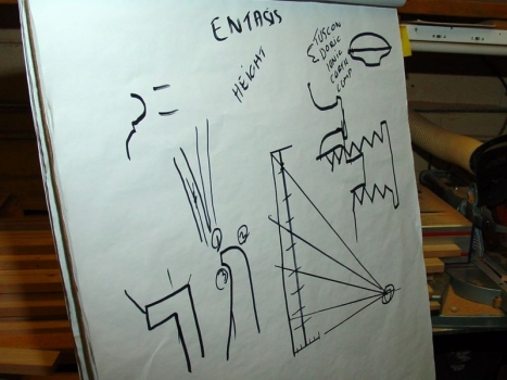 Explaining column entasis and the tool for the