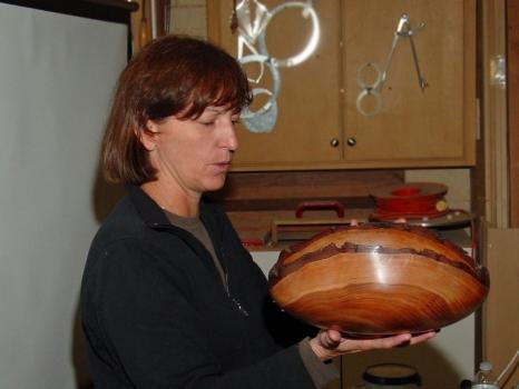 Alan Kirkby's natural edge large bowl