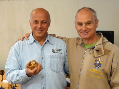 David with Paulo and spiked star in sphere