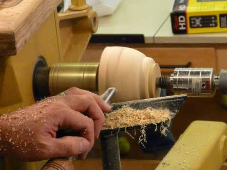Forming the tenon on base