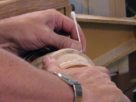 Carefully remove the excess PVA glue