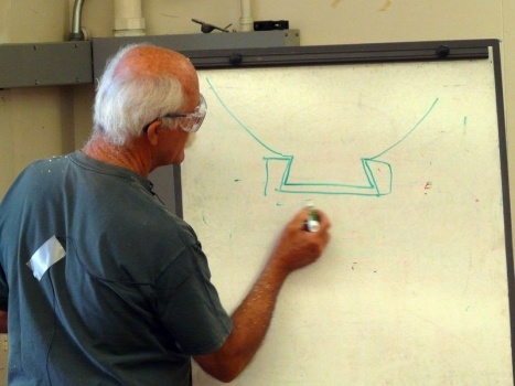 Explaining the considerations when cutting the foot tenon
