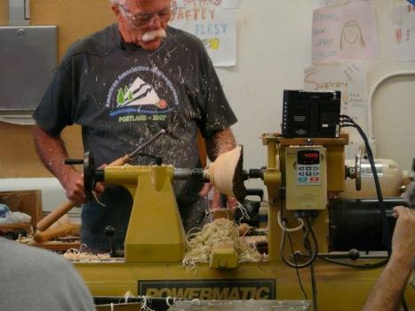 Shaping the natural edge bowl