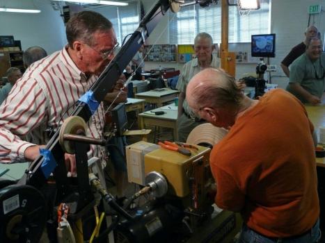 Jim and Al fixing the vacuum leak