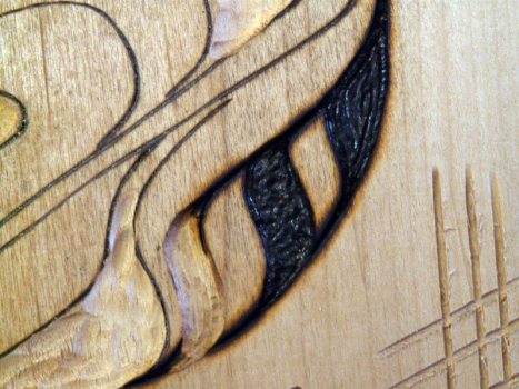 Alternative texturing with woodburner